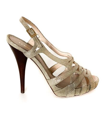 Sandales à talon Fendi
