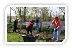 Volunteers chipping in