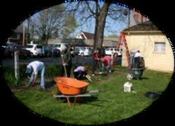 More Volunteers at work