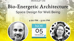 A talk on Bioenergetic Architecture: Space Design for Well Being
