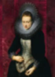 Портрет молодой дамы с розарием. Петер Пауль Рубенс