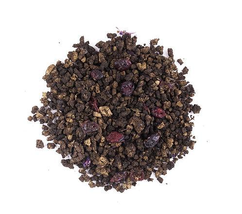 Иван-чай черный с клюквой весовой, 100 г