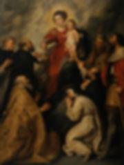 Богоматерь, вручающая розарий святому Доминику и другим святым