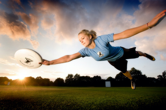 Flying frisbee