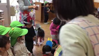 2/2幼稚園での豆まき