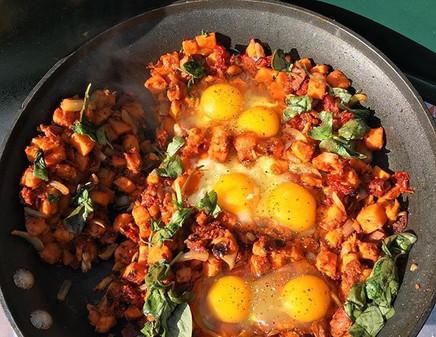Our delicious breakfast scramble 🤙🏽 #