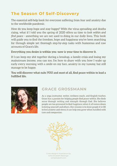 Back Cover - The Season of Self Discovery by Grace Grossmann