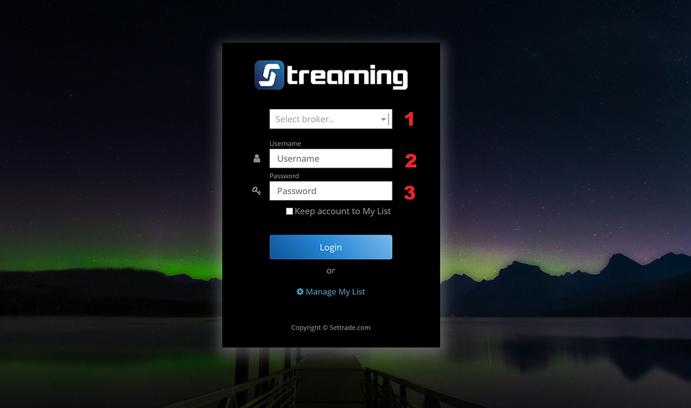 Streaming Login