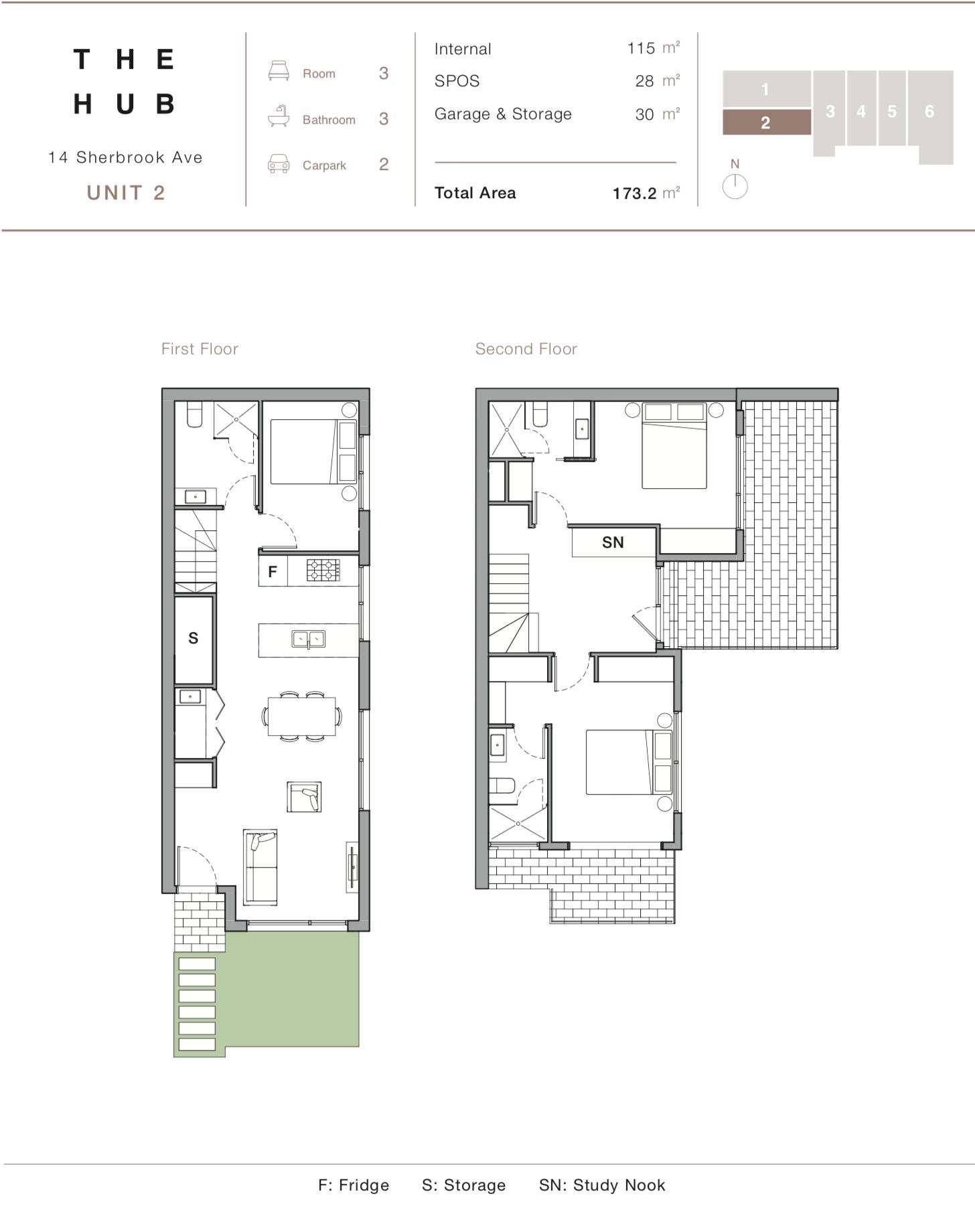 Floor Plan - Unit 2