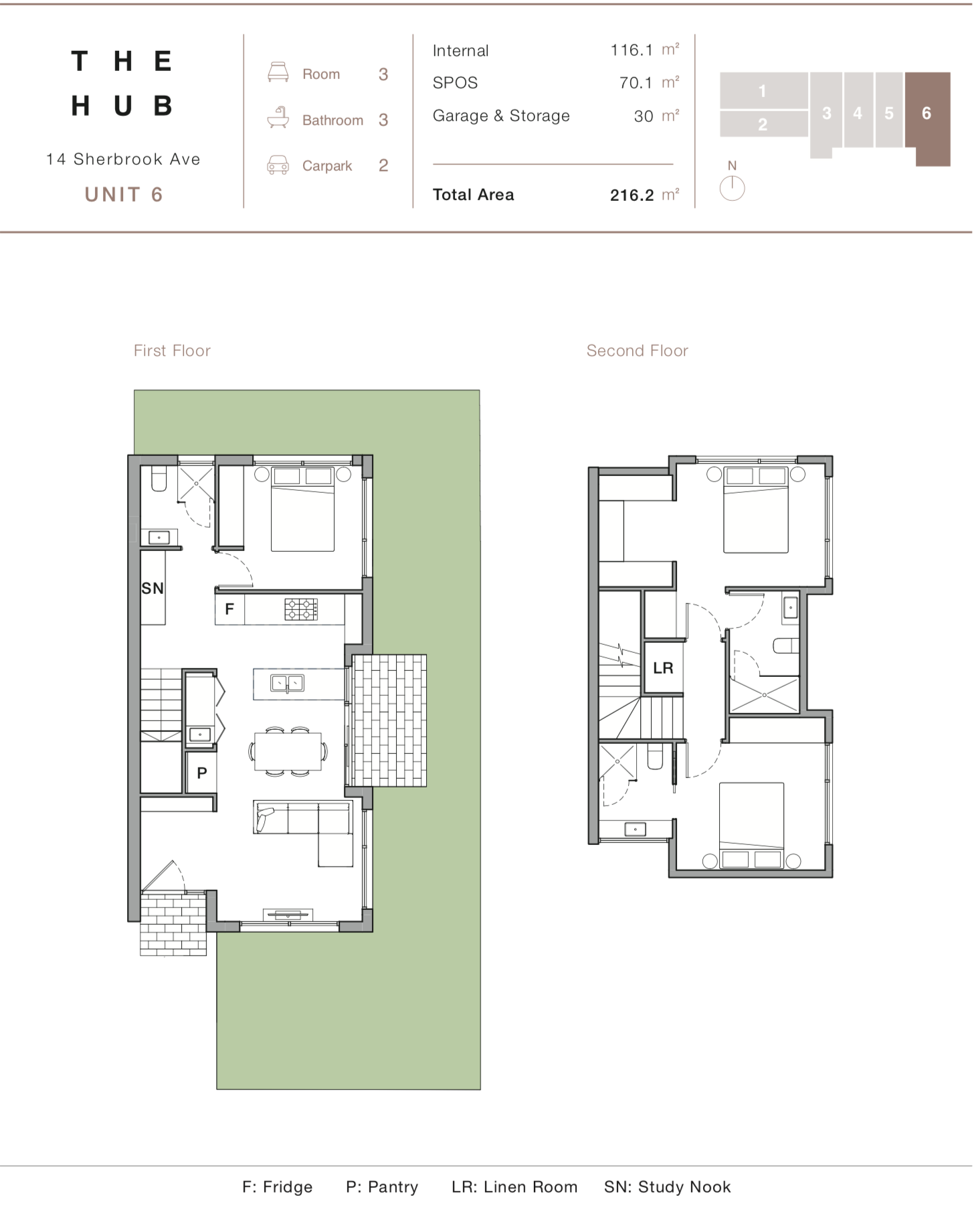 Floor Plan - Unit 6