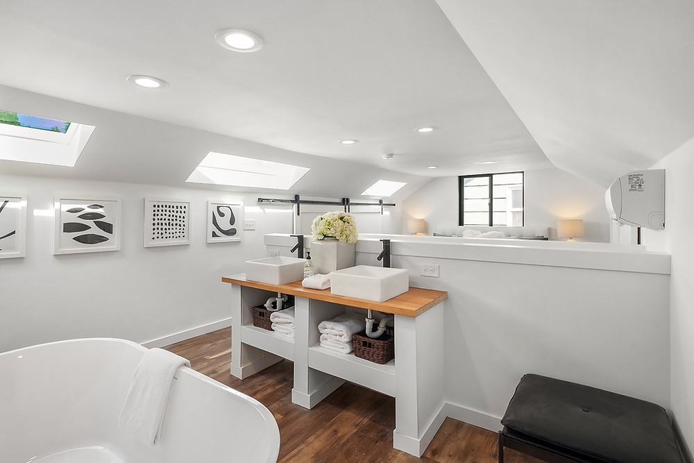 Open Bathroom Remodeling Concept