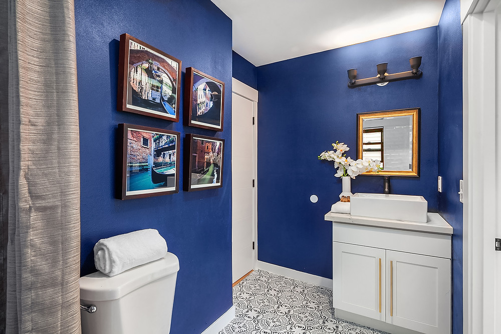Colored Bathroom Remodeling Design Idea