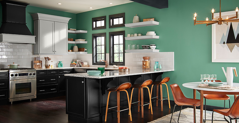 Colorful Countertop In Kitchen Remodeling Idea
