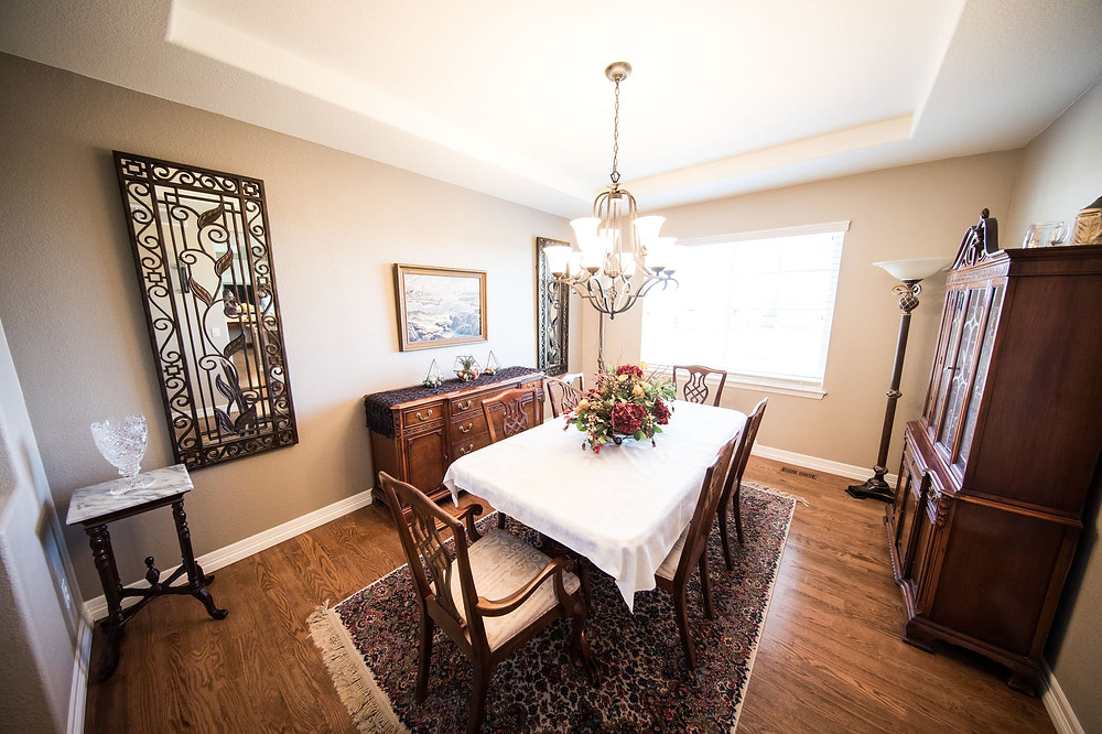 Dining Room With Vintage Styled Furniture
