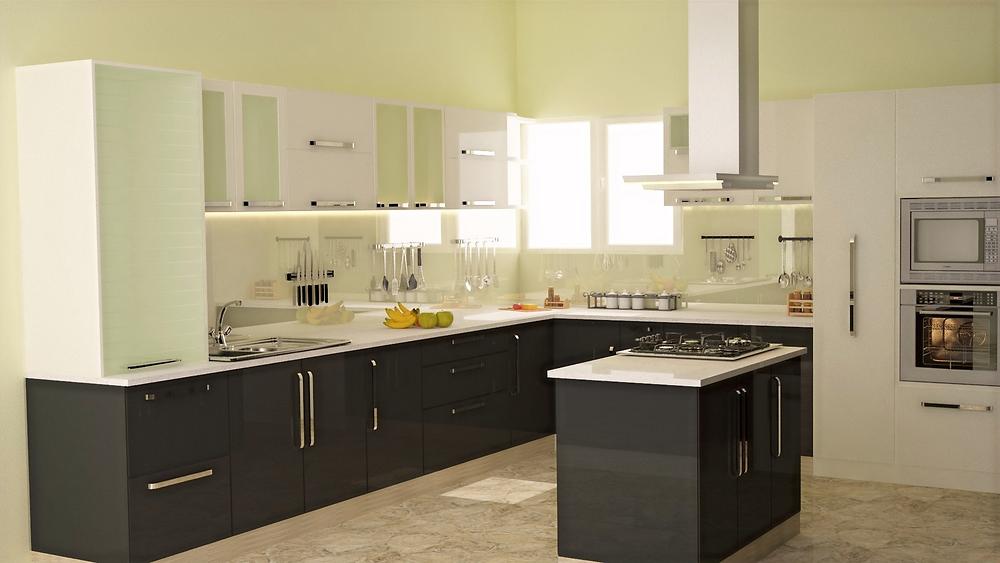 Black & White Theme Kitchen Remodel Design Inspiration