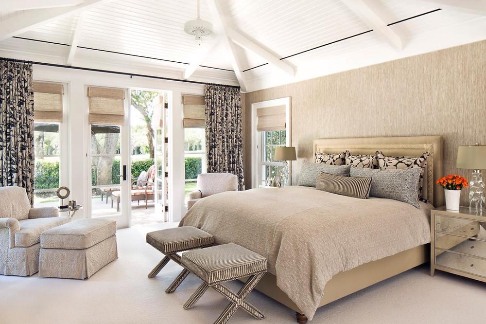 Beige Color For Bedroom Remodeling Concept