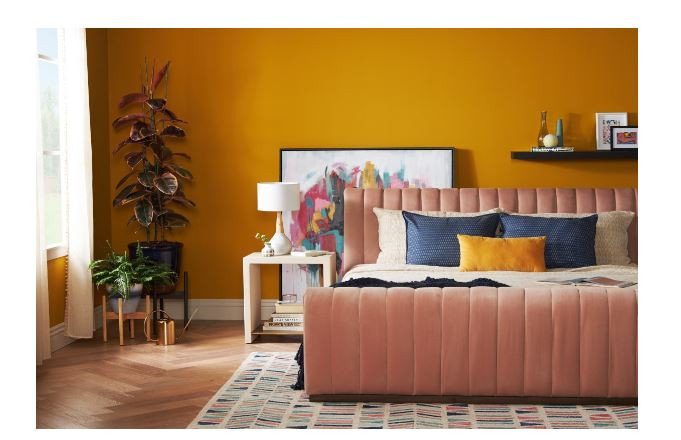 Marigold Yellow Walls For Bedroom Renovation Inspiration