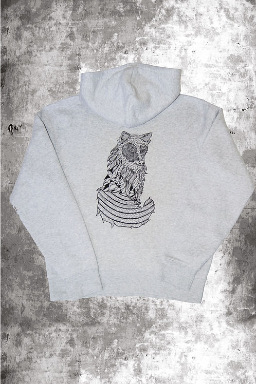 FOX HOODIE  - LIGHT GREY