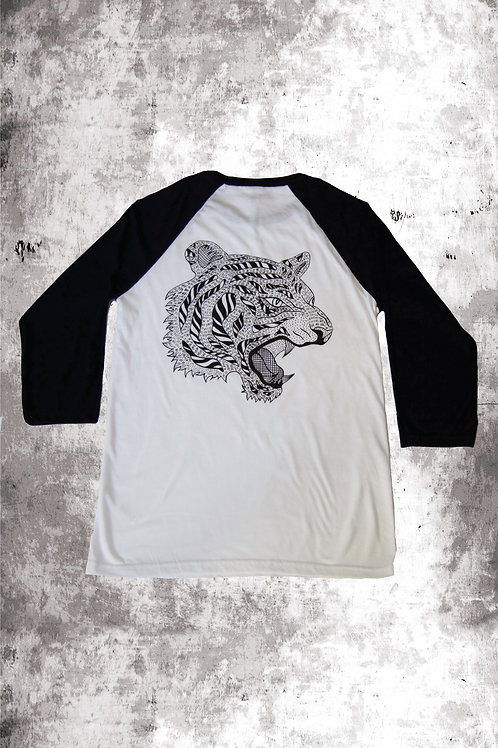 TIGER BASEBALL  - WHITE/BLACK