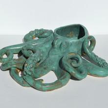 Weathered Bronze Octopus