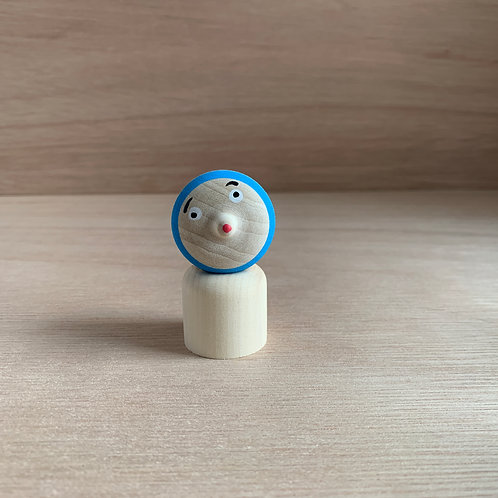 HYOTTOKO Wooden Top Doll