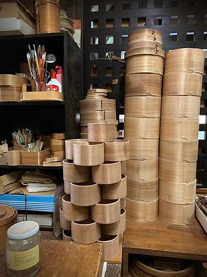 cedar, bent-wood, japanese craft, bento box, handmade