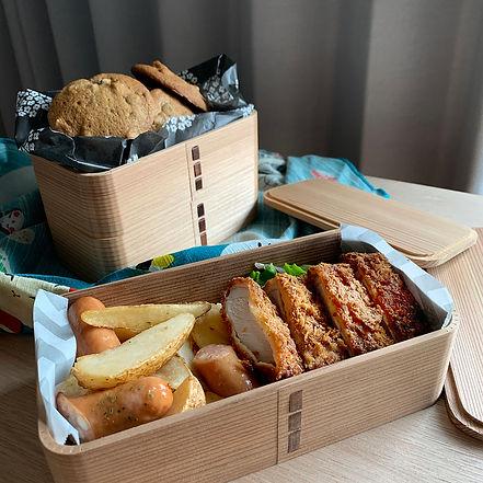 handmade bento box, eco-friendly food container, japan craft, cedar, bentwood