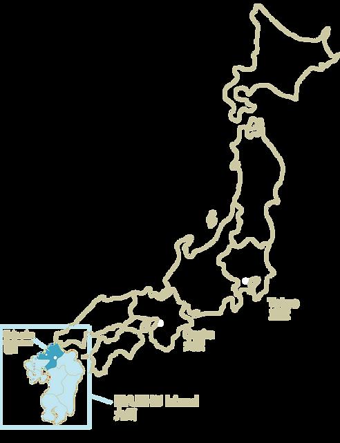 Japan Kyushu map