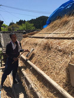 Thatched roof artisan