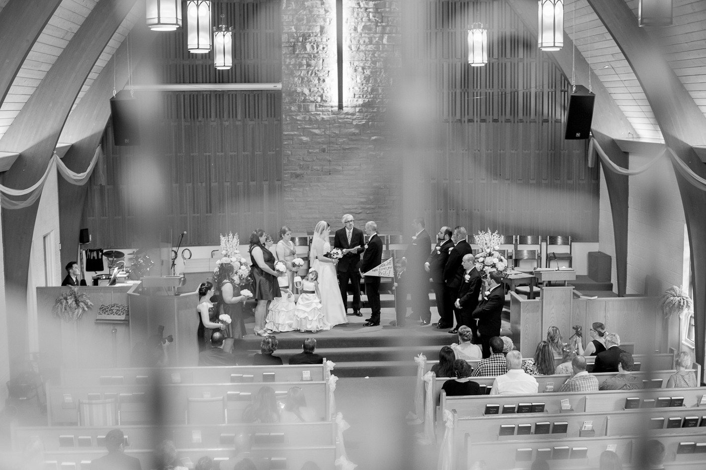 traditional wedding ceremony in a church