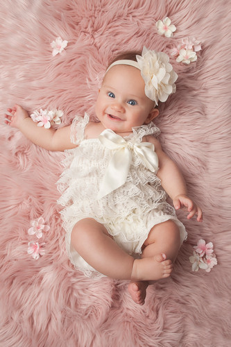Baby on Pink Blanket