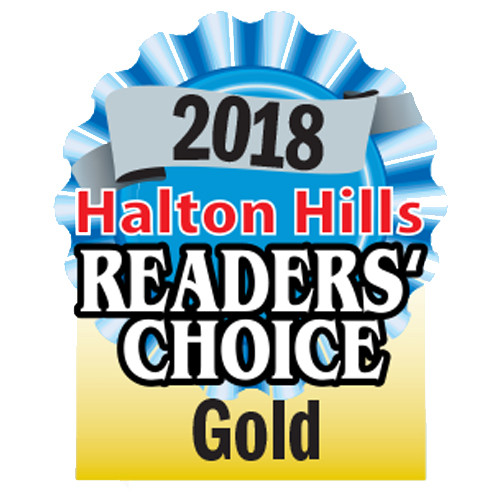2018 Halton Readers Choice Award - Gold