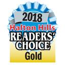2018 Halton Readers Choice Award - Gold