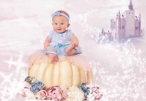 Cinderella Theme Baby Photo
