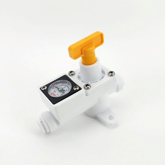DUOTIGHT INLINE IN LINE REGULATOR - WITH INTEGRATED GAUGE FOR WATER OR GAS - 8MM