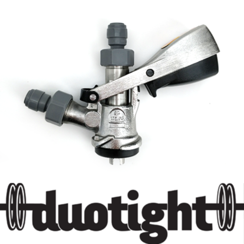 """S-Type Coupler - Full Stainless Steel - duotight 5/8"""" to 8mm push in"""