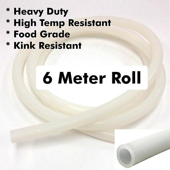 HEAVY DUTY SILICONE TUBE - 6M ROLL (ID12.5MM X OD18.5MM)