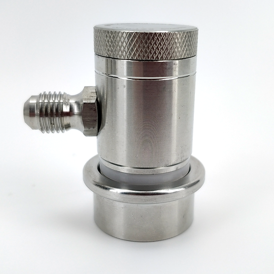 Machined Stainless Ball Lock Disconnect - MFL Threaded (Grey/Gas)