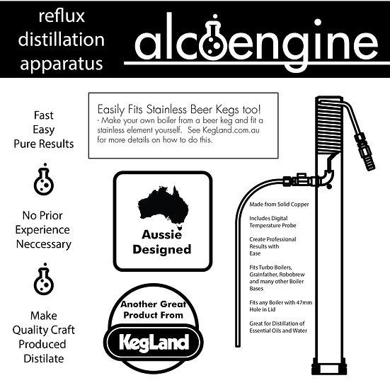 ALCOENGINE REFLUX PURE DISTILLING DISTILLATION APPARATUS