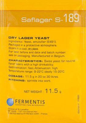 SafLager S-189 (Swiss) [11.5g] Yeast