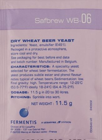 SafBrew WB-06 (Wheat Beer) [11.5g] Yeast