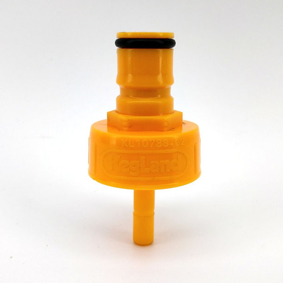 PLASTIC CARBONATION LINE CLEANING FERMZILLA PRESSURE CAP [Yellow]