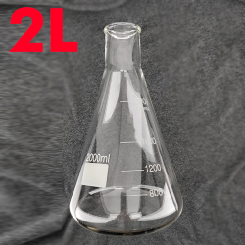 Erlenmeyer Conical Flask 2000ml (Borosilicate) (2L)