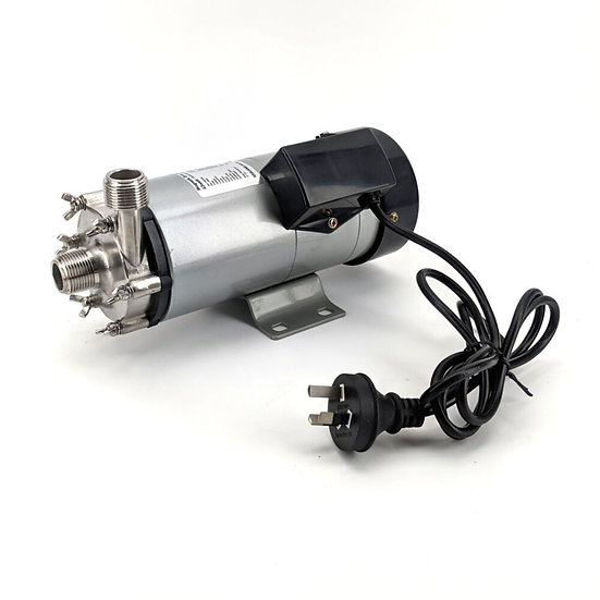 """65w Stainless Head Magnetic Drive Pump with 3/4"""" BSPT Threads"""