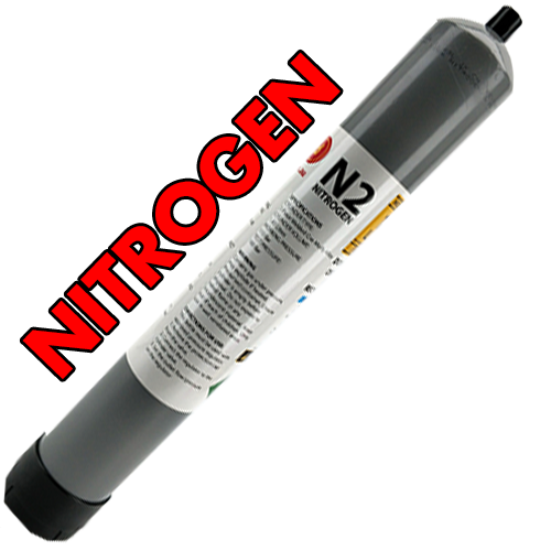 HIGH CAPACITY DISPOSABLE NITROGEN (N2) GAS CYLINDER - 1.43L - 110BAR (FOR NITRO