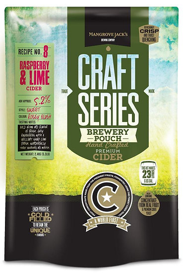 RASPBERRY AND LIME CIDER POUCH [Craft Series]