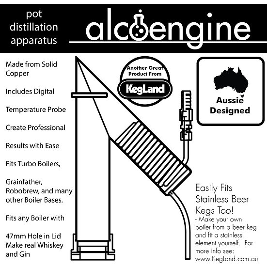 ALCOENGINE POT STILL DISTILLING DISTILLATION APARATUS