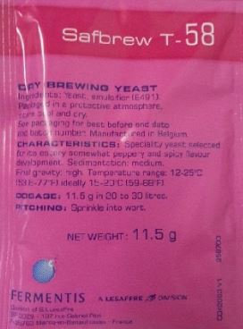 SafAle T-58 (Belgian) [11.5g] Yeast