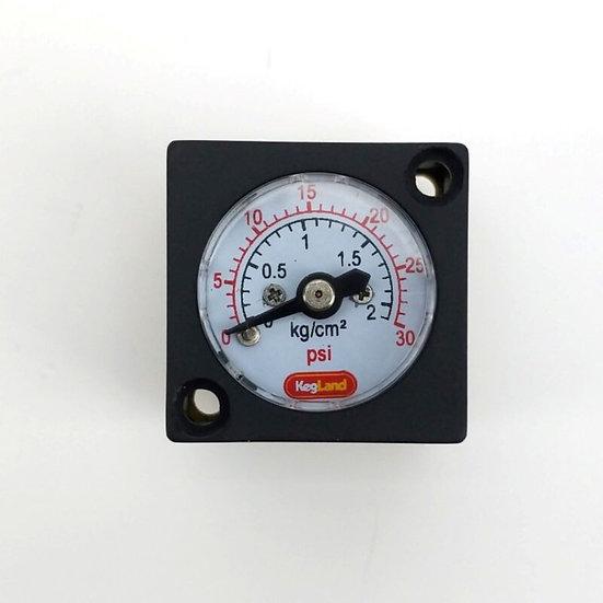 Mini Gauge 0-30psi (0-2bar) - for inline duotight regulator or blowtie