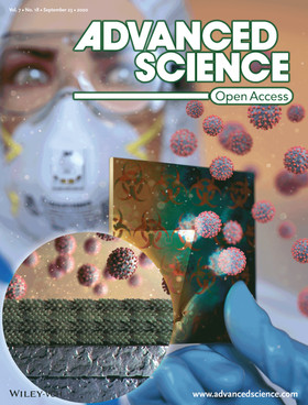 [Inside Back Cover] Colorimetric Sensors: Large‐Area Virus Coated Ultrathin Colorimetric Sensors wit